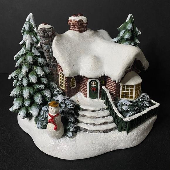 """Thomas Kinkade """"A Village Christmas"""" Cottage"""